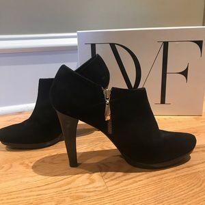 DVF Black Suede Booties